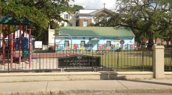 Philip Simmons Playground in Mall Park - named after the famed Master Blacksmith, Philip Simmons. Simmons was from this EastSide neighborhood